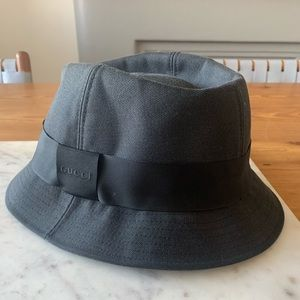 Gucci Canvas Leather Sinatra Hat